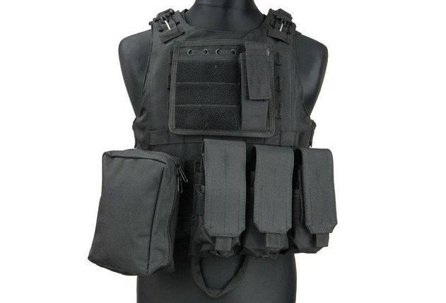 Жилет тактический (разгрузочный) типа AAV FSBE - black [GFC Tactical] (для страйкбола), фото 2