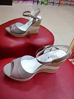 Босоножки женские кожаные МИДА на платформе., фото 1