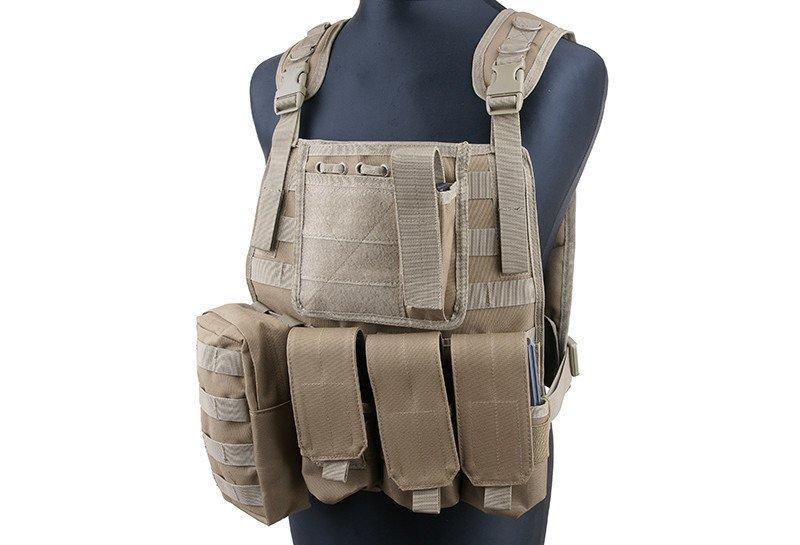 Жилет тактический (разгрузочный) типа MBSS Plate Carrier - coyote [GFC Tactical] (для страйкбола)