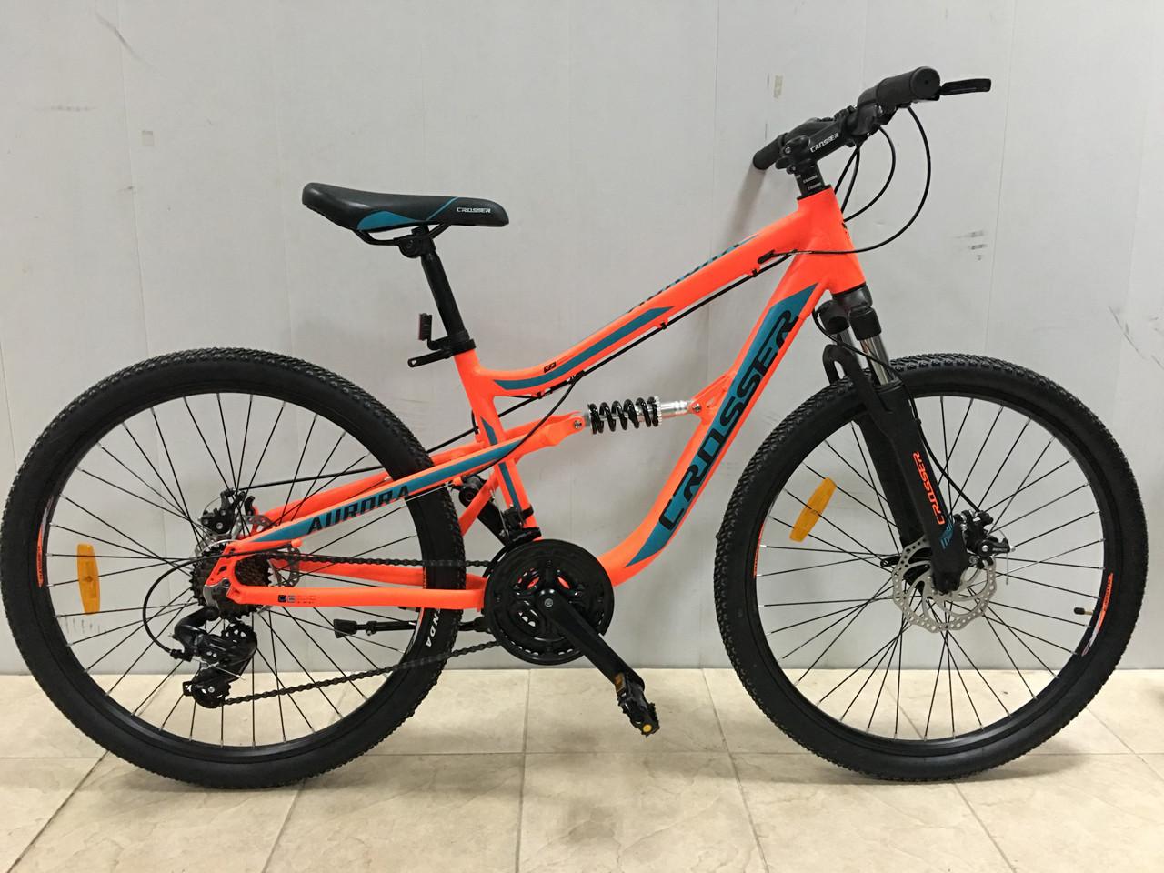 """Двухподвесный велосипед Crosser Aurora 26"""""""