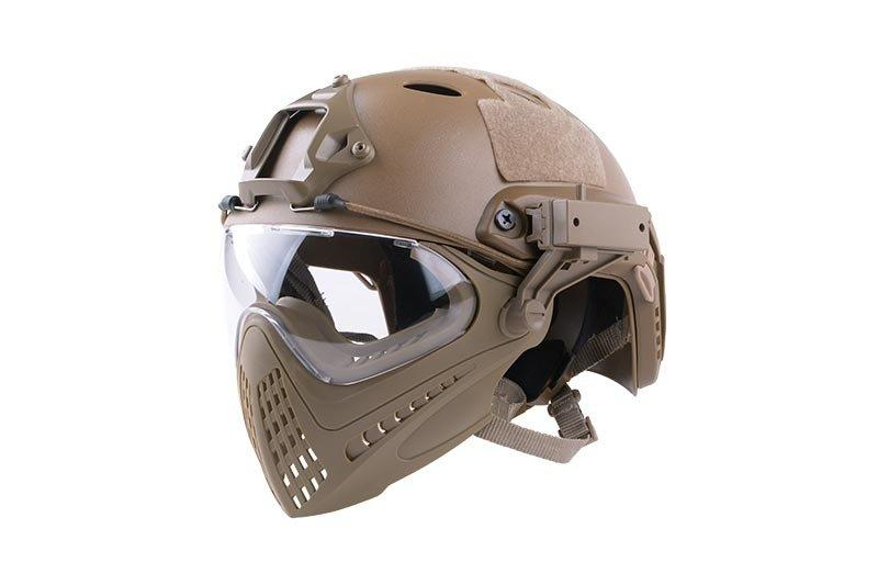 Реплика шлема FAST PJ Piloteer - Tan [Ultimate Tactical] (для страйкбола)