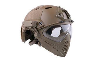 Реплика шлема FAST PJ Piloteer - Tan [Ultimate Tactical] (для страйкбола), фото 3