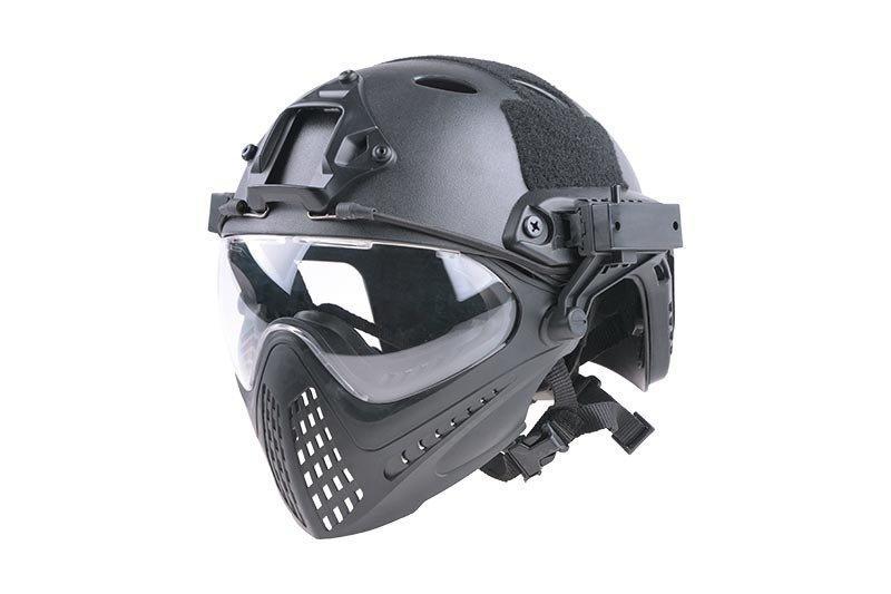 Реплика шлема FAST PJ Piloteer - black [Ultimate Tactical] (для страйкбола)