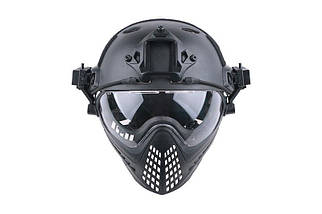 Реплика шлема FAST PJ Piloteer - black [Ultimate Tactical] (для страйкбола), фото 2