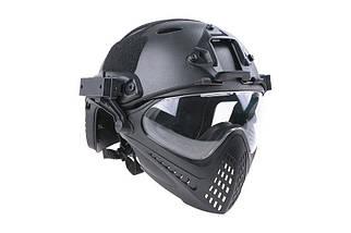 Реплика шлема FAST PJ Piloteer - black [Ultimate Tactical] (для страйкбола), фото 3