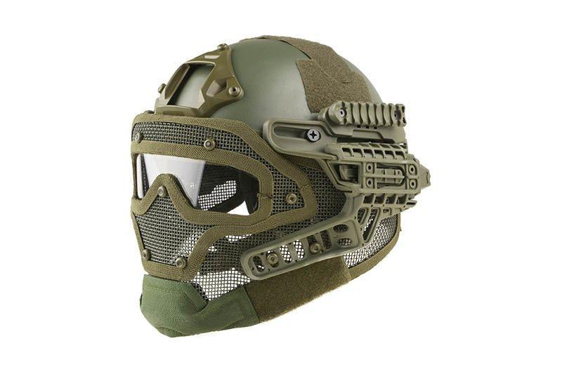 Реплика шлема FAST Gunner (MH) - Olive Drab [Ultimate Tactical] (для страйкбола)