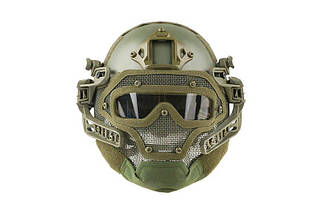 Реплика шлема FAST Gunner (MH) - Olive Drab [Ultimate Tactical] (для страйкбола), фото 2