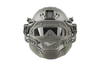 Реплика шлема FAST Gunner (MH) - Gray [Ultimate Tactical] (для страйкбола), фото 2