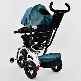 Дитячий триколісний велосипед з пультом Best Trike 7700 B 6980 поворотне сидіння, надувні колеса