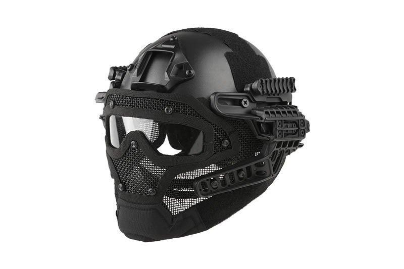 Реплика шлема FAST Gunner (MH) - black [Ultimate Tactical] (для страйкбола)