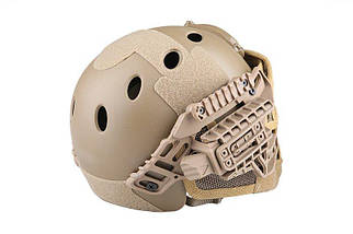 Реплика каски FAST PJ G4 System с защитой лица - Coyote [Emerson] (для страйкбола), фото 3