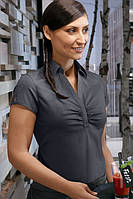 Блуза официанта женская TEXSTYLE со сборками серая