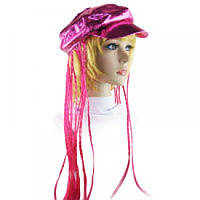 Кепка женская с косичками (розовая)