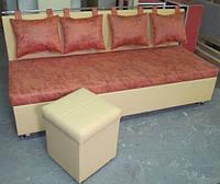 Лавочка со спальным местом и пуфом КОМФОРТ, фото 1