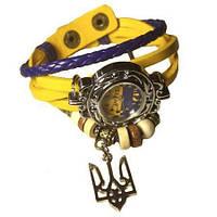 """Часы патриотические """"Надiя"""" с украинским флагом и гербом тризубцем"""