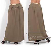 Однотонная летняя длинная юбка 50,52,54,56, фото 1