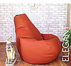 Кресло Мешок, бескаркасное кресло Груша ХХЛ, микро рогожка бордо, фото 8