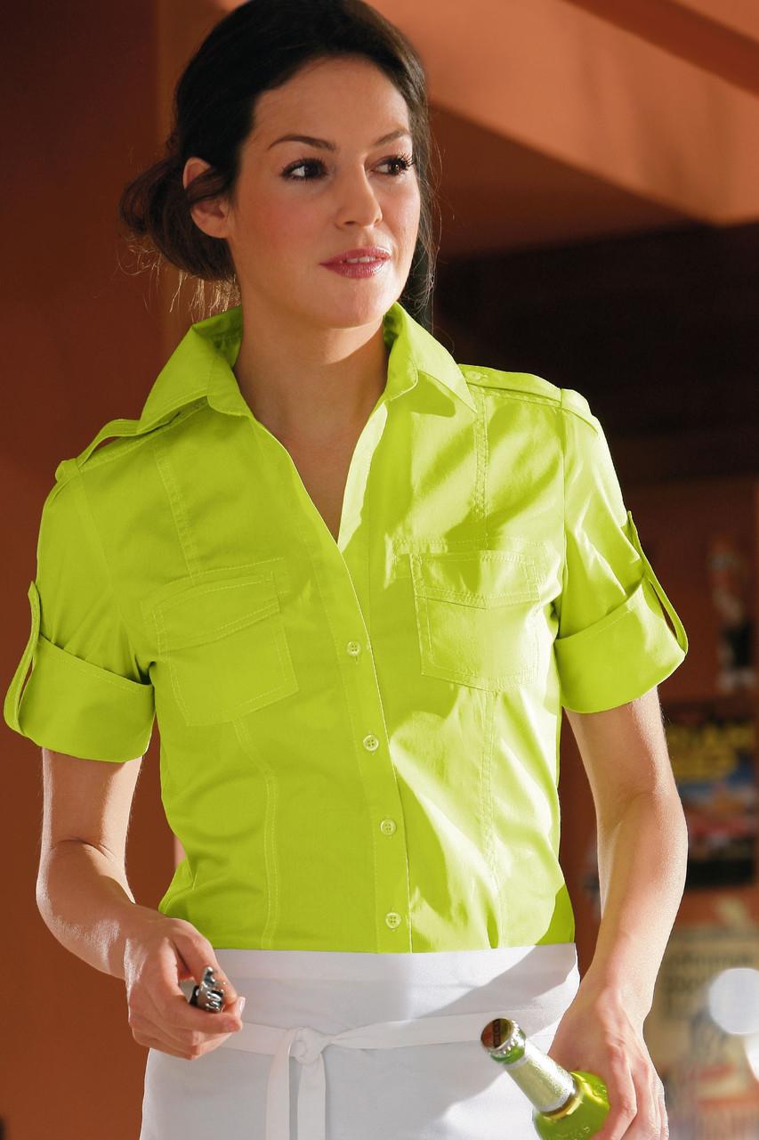 Блуза официанта TEXSTYLE сафари женская лимонная