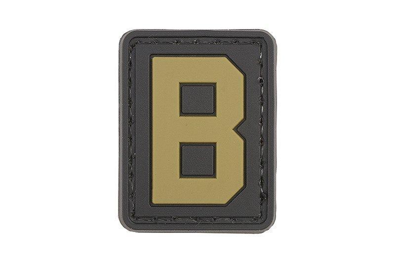 Нашивка 3D - Letter B [GFC Tactical]