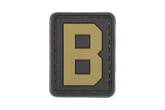 Нашивка 3D - Letter B [GFC Tactical], фото 2