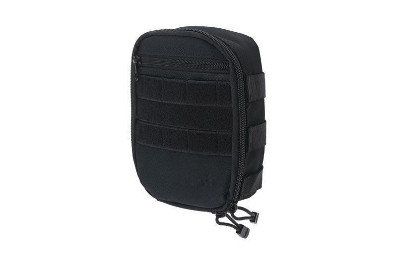 Подсумок cargo MOLLE с карманом - black [GFC Tactical] (для страйкбола)