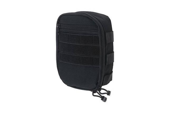 Подсумок cargo MOLLE с карманом - black [GFC Tactical] (для страйкбола), фото 2