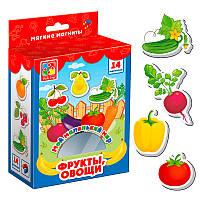 """Набор обучающих магнитов для малышей """"Мой маленький мир - Фрукты и овощи"""""""