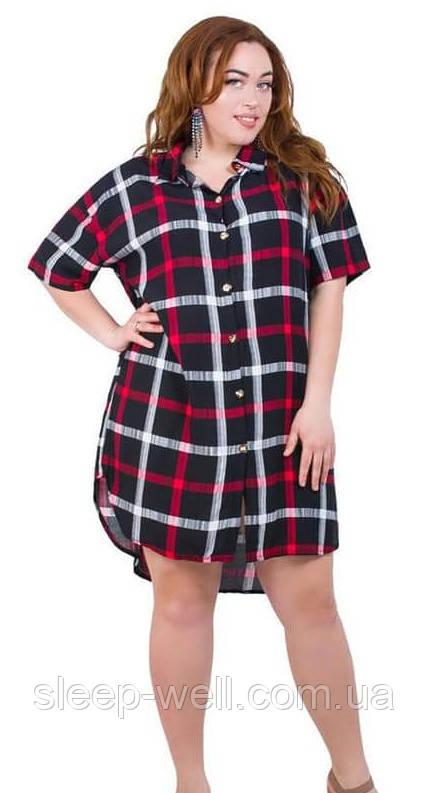 Сорочка - халат штапельный