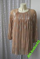 Платье женское легкое нарядное плиссированное мини туника бренд Topshop р.44-48