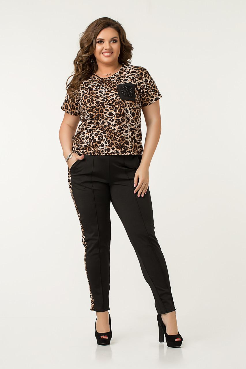 Костюм Lilove 48523 52 леопард коричневый