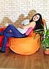Кресло Мешок, бескаркасное кресло Груша ХХЛ, оранжевый, фото 2