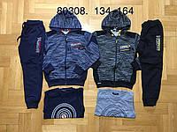 Трикотажный костюм 3 в 1 для мальчика оптом, Grace, 134-164 см,  № B80308, фото 1