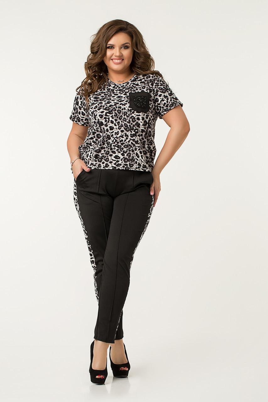 Костюм Lilove 48523 50 леопард серый