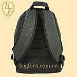 Рюкзак городской, спортивный серый, фото 5