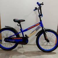 """Велосипед 20"""" дюймов 2-х колесный Crosser GK 717, синий, ручной тормоз, звоночек, подножка для парковки"""
