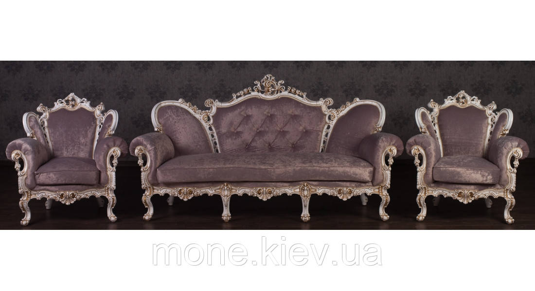 """Комплект м'яких меблів у стилі Бароко """"Ізабелла"""""""