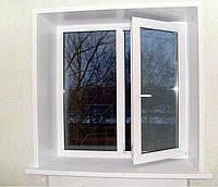 Все размеры Окно поворотно откидное металлопластиковое (обычное дешёвое)   3 камерное Окна Эконом Класса
