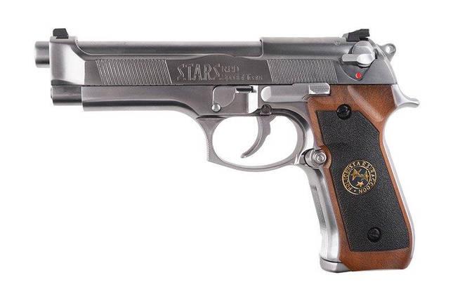 Страйкбольный пистолет Samurai Edge Standard V.2 M9 Full Auto - silver [WE] (для страйкбола), фото 2
