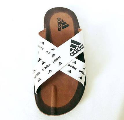 Шльопанці чоловічі Тапочки ADIDAS Сланці Білі ( розміри: 40,41,42), фото 3