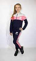 Спортивный  трикотажный подростковый   костюм на девочку   , 140-146-15 2-158-164 рост, Украина