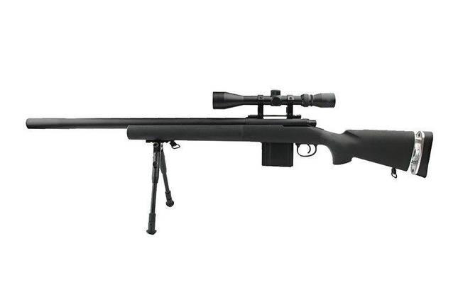 Страйкбольная винтовка снайперская MB4404D - с оптикой и сошками [WELL] (для страйкбола), фото 2