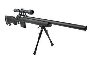 Страйкбольная винтовка снайперская MB4404D - с оптикой и сошками [WELL] (для страйкбола), фото 3