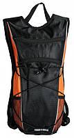 Велорюкзак спортивный черно-оранжевый
