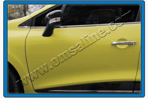 Накладки на дверные ручки (4 шт, нерж) Renault Clio IV 2012↗ гг.