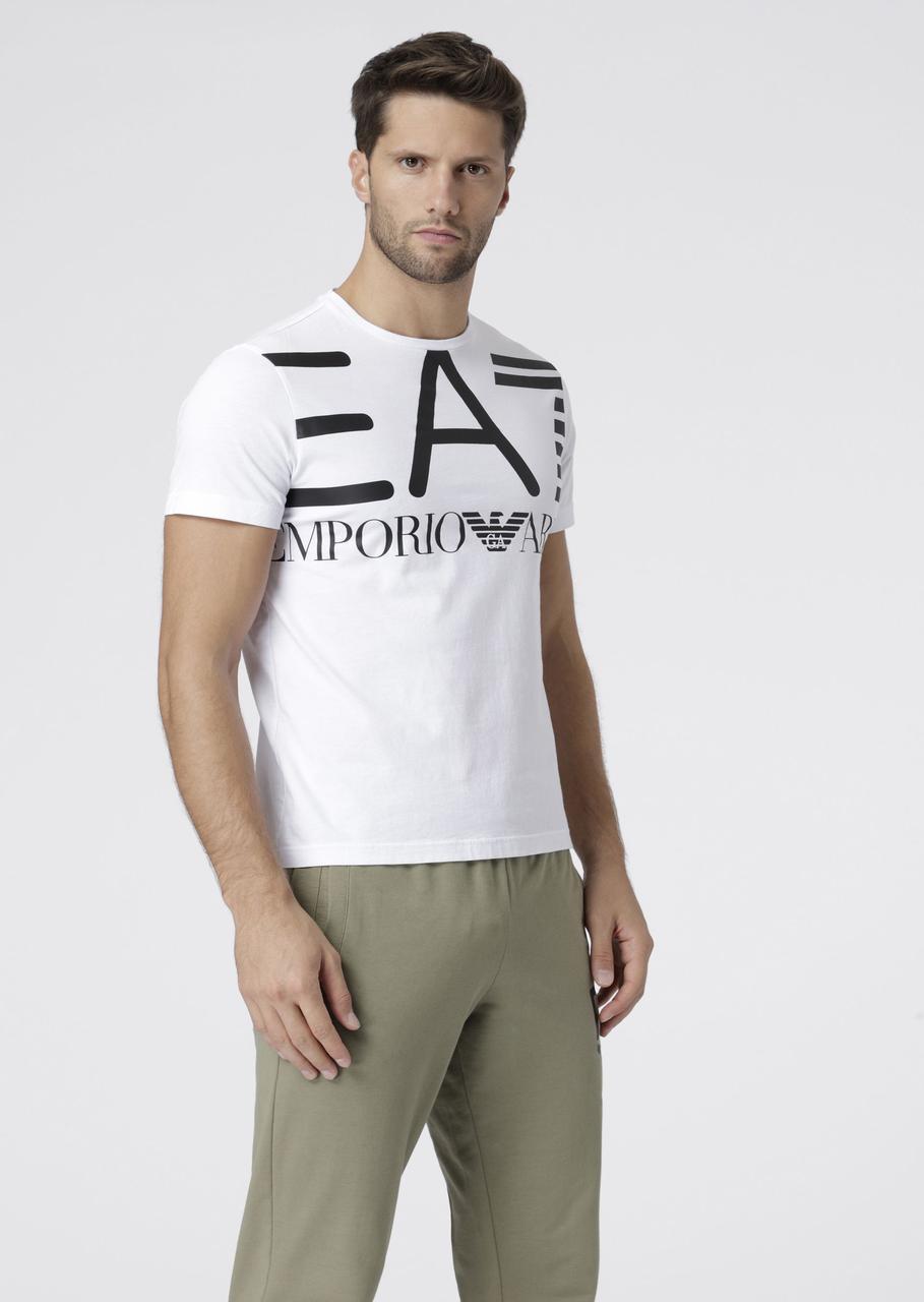 Футболка Emporio Armani EA7 Cotton T-shirt  Max logo оригинал