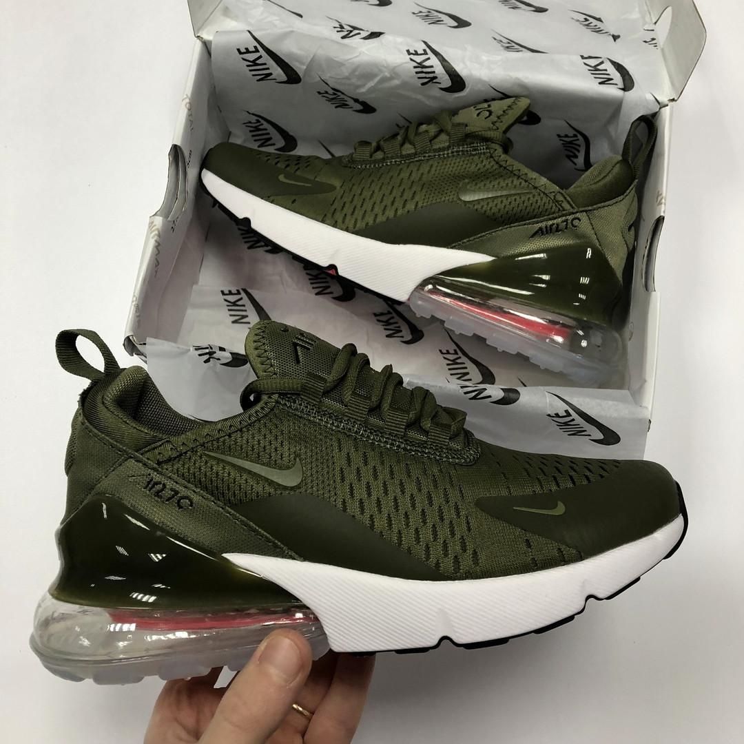50fe8203 Женские кроссовки Nike Air Max 270 зеленые реплика - купить не ...