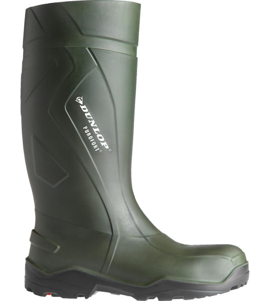 Сапоги Веллингтона S5 CI SRC DUNLOP PUREFORT PLUS полная безопасность темно-зеленые