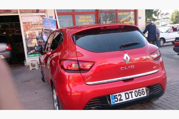Кромка багажника (HB, нерж) Renault Clio IV 2012↗ гг.