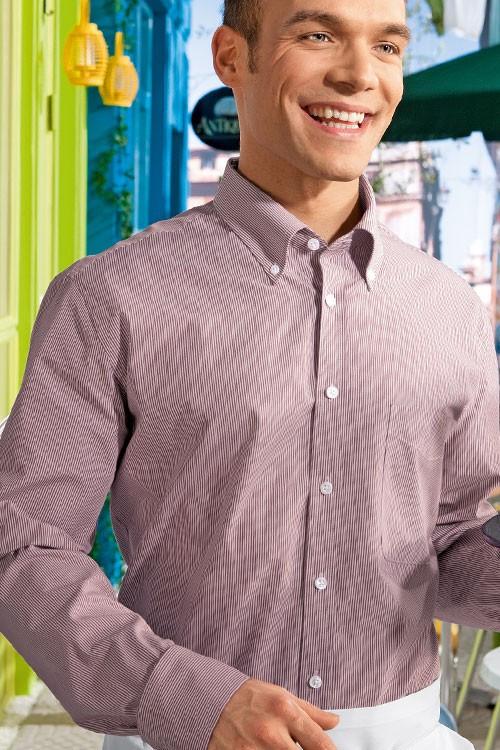 Рубашка официанта мужская TEXSTYLE длинный рукав прованс лаванда