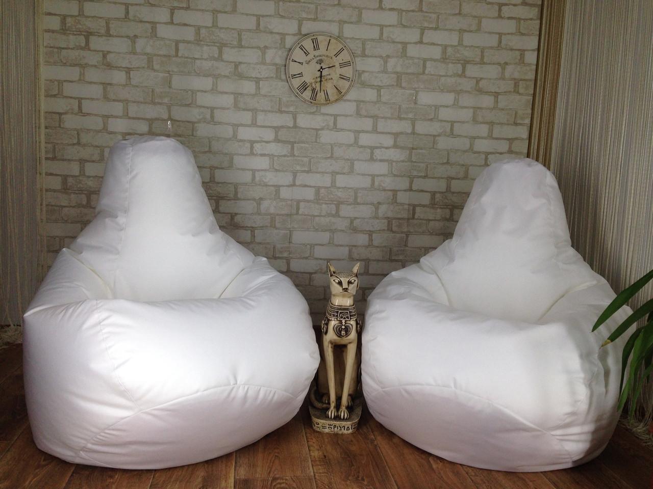 Кресло Мешок, бескаркасное кресло Груша ХХЛ, белый